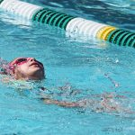 young swimmer in a pool